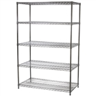 "24""d x 54""w Wire Shelving with 5 Shelves"