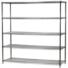 "24""d x 72""w Wire Shelving Unit with 5 Shelves"
