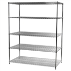 "30""d x 60""w Wire Shelving Unit with 5 Shelves"