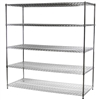 "30""d x 72""w Wire Shelving Unit with 5 Shelves"