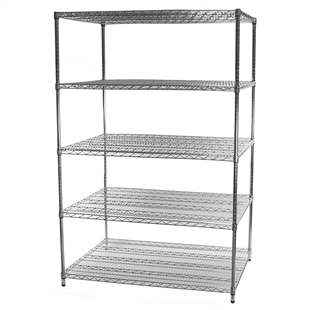 "36""d x 48""w Wire Shelving Unit with 5 Shelves"