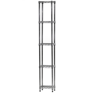 "8""d x 12""w Wire Shelving Unit with 5 Shelves"
