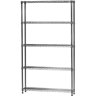 "8""d x 42""w Wire Shelving Unit with 5 Shelves"