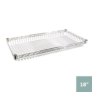 "Chrome Wire Basket Shelving- 18""d"