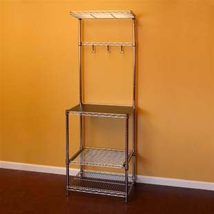 Wire Shelving Bakers Rack w/ sliding shelf
