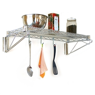 "14""d Wall Mounted Wire Shelving Kits"