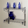 2 Shelf Wall Mounted Wire Shelving Kit