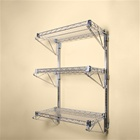 Adjustable Wall Mounted Wire Shelving Kit w/ 3 levels