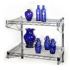 "18""d Adjustable Wire Shelving wall kit with two shelves"