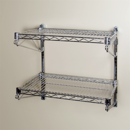 18 Quot D Wall Mounted Wire Shelving With 2 Shelves The