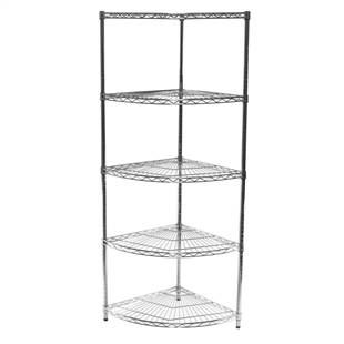 "24""d Radius Corner Unit with 5 Shelves"