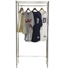 Basic wire shelving closet unit with hat shelf and garment rack