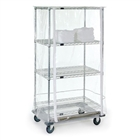 "24""d x 63""h Clear Cover for Wire Shelving"