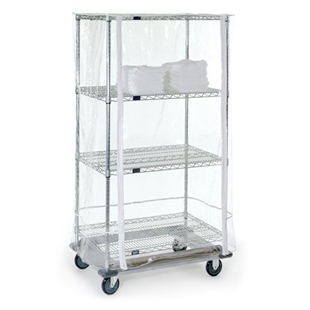 "24""d x 74""h Clear Cover for Wire Shelving"