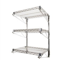 Wall Mounted Wire Shelving The Shelving Store