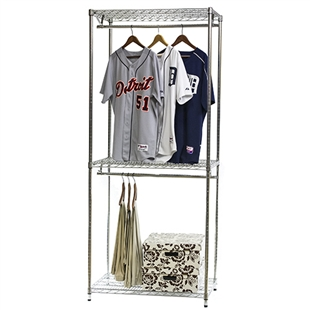 Double Hang Wire Shelving w/ Lower Shelf