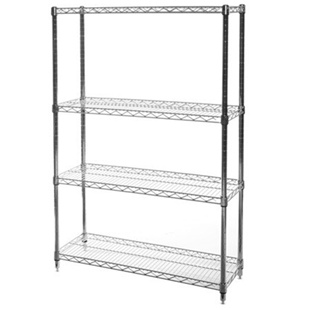 "14""d x 30""w Wire Shelving Unit with 4 Shelves"