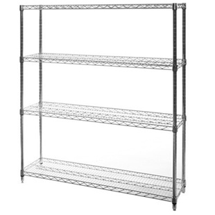 "14""d x 72""w Wire Shelving Unit with 4 Shelves"