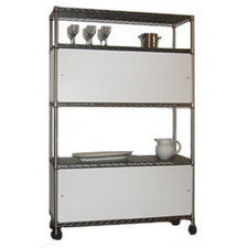 Chrome Wire Shelving Enclosures