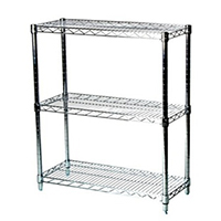 "12""x36""x34"" Shelving Wire Unit with 3 Shelves"