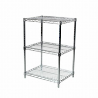 "18""x24""x34"" Wire Shelving Unit with 3 Shelves"