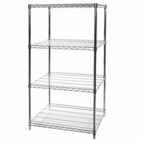 "18""x36""x72"" Wire Shelving Unit with 4 Shelves"