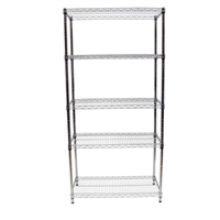 "18""x36""x72"" Wire Shelving Unit with 5 Shelves"