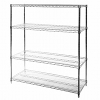 "18""x48""x72"" Wire Shelving Unit with 4 Shelves"