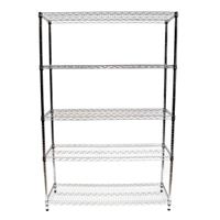 "18""x48""x72"" Wire Shelving Unit with 5 Shelves"