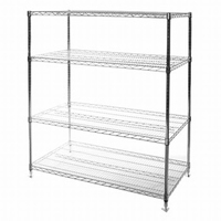 "24""x48""x72"" Wire Shelving Unit with 4 Shelves"