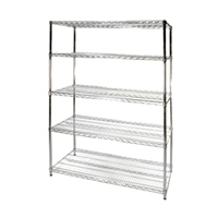 "24""x48""x72"" Wire Shelving Unit with 5 Shelves"